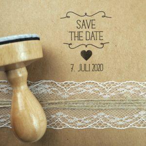 Stempel Hochzeit - Save the Date & Hochzeitsdatum - Serie: Herzchen