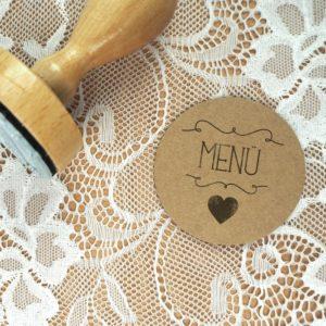 Stempel Hochzeit - Menü - Serie: Herzchen