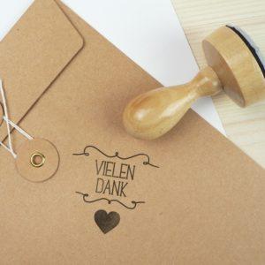 Stempel Hochzeit - Vielen Dank - Serie: Herzchen