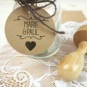 Stempel Hochzeit - Individuell mit Namen und Hochzeitsdatum - Serie: Herzchen