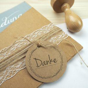 Stempel Hochzeit - Danke - Serie: Dots