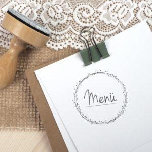 Stempel Hochzeit - Menü - Serie: Dots