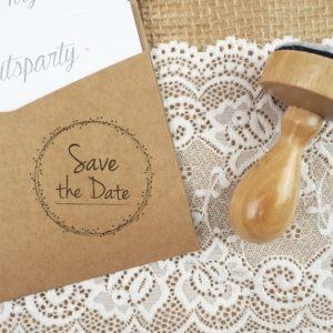 Stempel Hochzeit - Save the Date - Serie: Dots