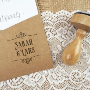 Stempel Hochzeit - Individuell mit Namen - Serie: Paperprint