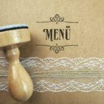 Stempel Hochzeit - Menü - Serie: Paperprint