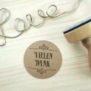 Stempel Hochzeit - Vielen Dank - Serie: Paperprint