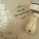 Stempel Hochzeit - Für die Freudentränen - Serie: Paperprint