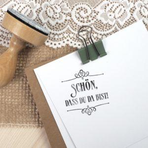 Stempel Hochzeit - Schön, dass du da bist - Serie: Paperprint