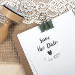 Stempel Hochzeit – Save the Date & Hochzeitsdatum – Serie: Vintage Green