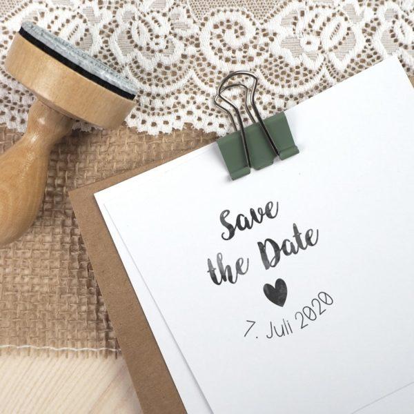 Stempel Hochzeit - Save the Date & Hochzeitsdatum - Serie: Vintage Green