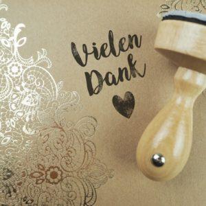 Stempel Hochzeit - Vielen Dank - Serie: Vintage Green