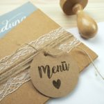 Stempel Hochzeit - Menü - Serie: Vintage Green