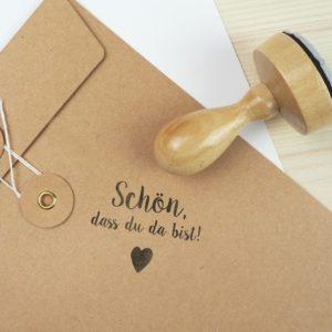 Stempel Hochzeit - Schön, dass du da bist - Serie: Konfettiherz