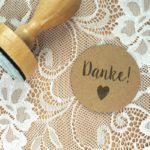 Stempel Hochzeit – Danke! – Serie: Konfettiherz