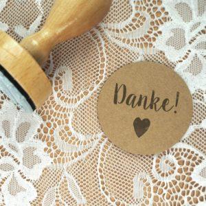 Stempel Hochzeit - Danke! - Serie: Konfettiherz