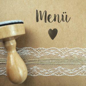 Stempel Hochzeit - Menü - Serie: Konfettiherz