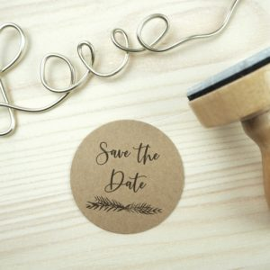 Stempel Hochzeit - Save the Date - Serie: Greenery