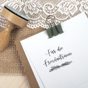 Stempel Hochzeit - Für die Freudentränen - Serie: Greenery