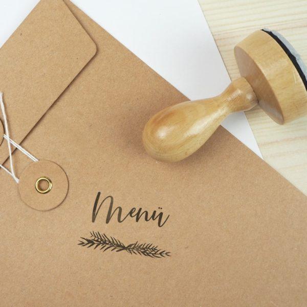 Stempel Hochzeit - Menü - Serie: Greenery- Menükarten Tischkarten