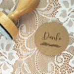 Stempel Hochzeit – Danke! – Serie: Greenery – Danksagungen