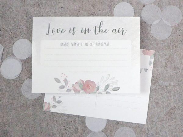Ballonkarten Flowerlove HochzeitBallonflugkarten