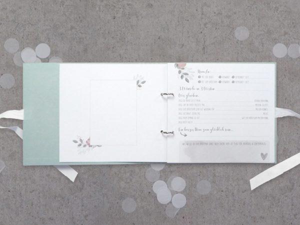 """Gästebuch """"Flowerlove"""" - Album inkl. Einlegeseiten"""