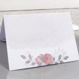"""Namens- und Tischkarte """"Flowerlove"""" zum Selberbeschriften"""
