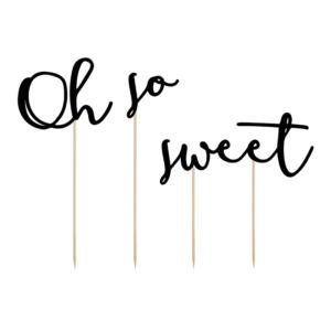 "Caketopper ""Oh so sweet""schwarz · 3-teilig"