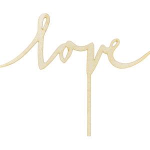 "Caketopper aus Holz ""Love"""