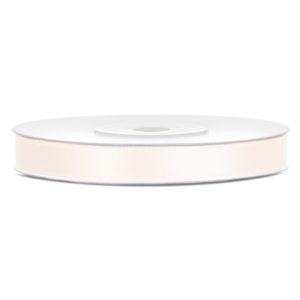 Satinband Ivory6mm · 25 Meter