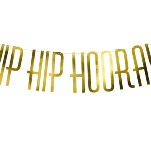 "Girlande ""Hip Hip Hooray"" · gold · 120cm"