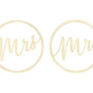 "Hängedeko · Schriftzug ""Mr"" & ""Mrs"""