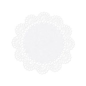 Namenskarte Rosette Perlmutt 10 Stück