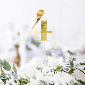 """Tischnummern """"1-10""""· Gold · 11-teiliges Set"""