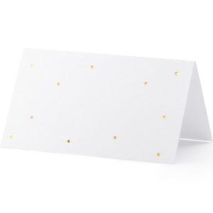 """Platzkarten · Namenskarten """"Golden Dots"""" · 10 Stück"""