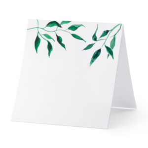 "Platzkarten · Namenskarten ""leaves"" · 25 Stück"