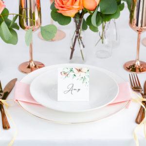 """Platzkarten · Namenskarten """"Floral"""" · 25 Stück"""