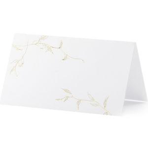 """Platzkarten · Namenskarten """"Floral Gold"""" · 10 Stück"""