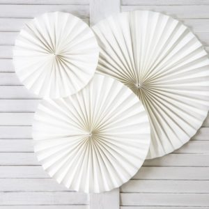 Papierfächer Ivory