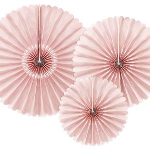 Papierfächer Rosa · 3er Set