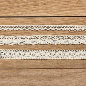 Spitzenborte Creme Set 1 3 Bänder · je 1,5m
