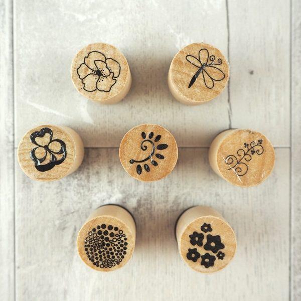 """Mini-Stempelset """"Blumen"""""""