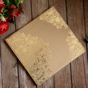 """Gästebuch Kraftkarton """"Golden Grace"""""""