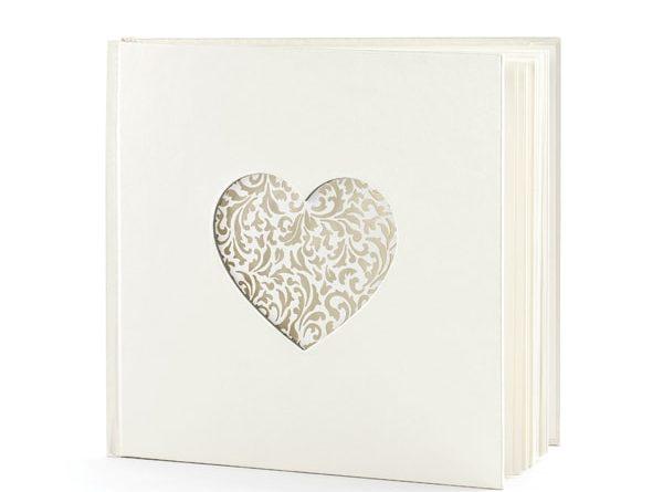 Gästebuch Herz Perlmutt60 Seiten