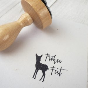 Stempel - Frohes Fest - Reh