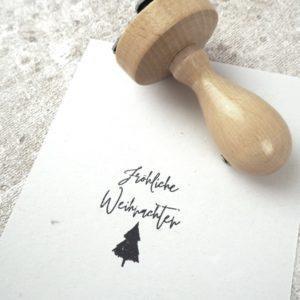Stempel - Fröhliche Weihnachten - Tannenbaum