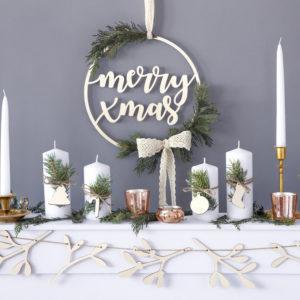 """HängedekoausHolz """"Merry Xmas"""""""