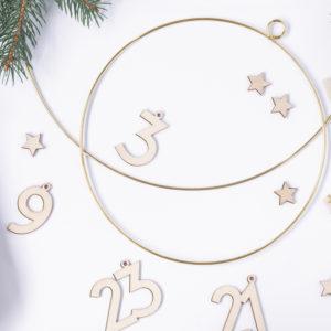 Hängedeko · Hoop gold · 2 Stück