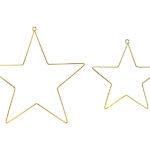 Hängedeko · Sterne gold · 2 Stück