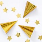 Girlande · Sterne · gold glänzend